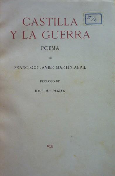 CASTILLA AND WAR Poem