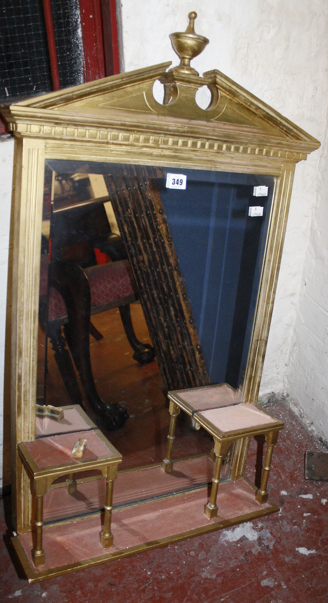 An Edwardian gilt mirror