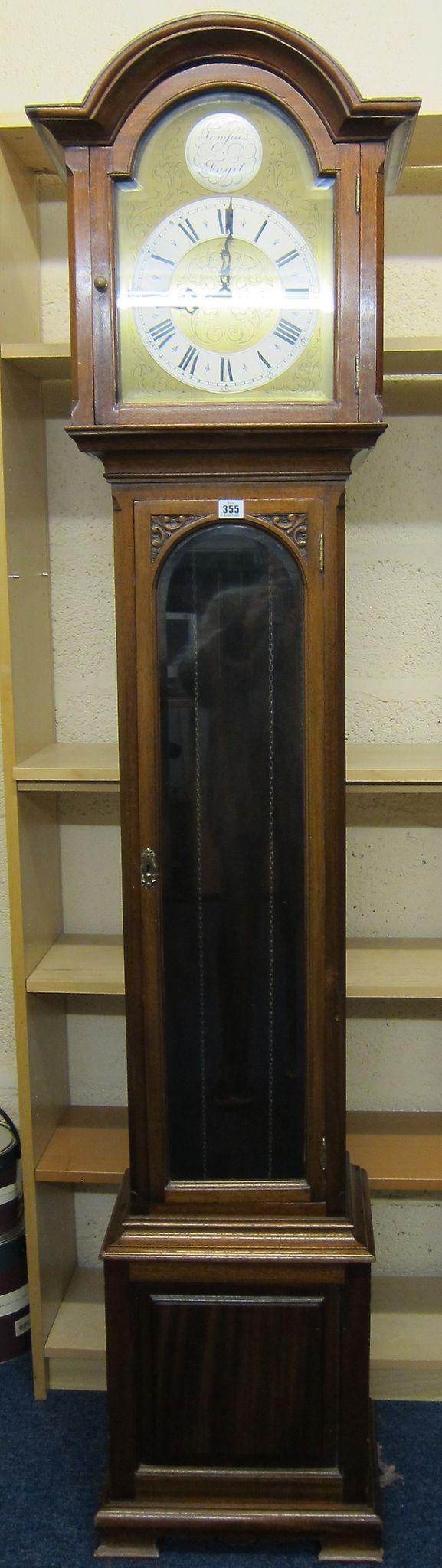 A mahogany longcase clock