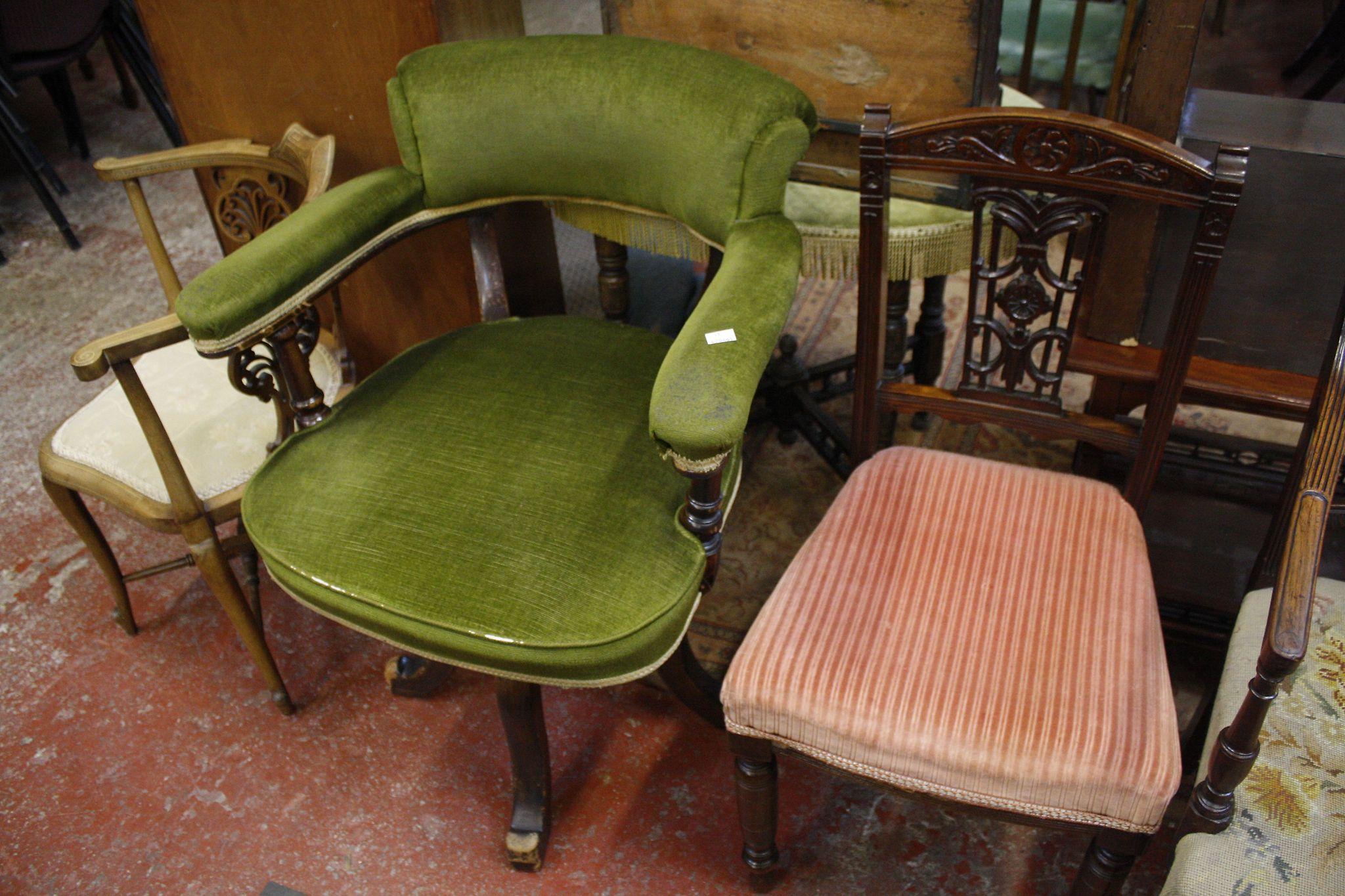 Two 19th Century mahogany armchairs