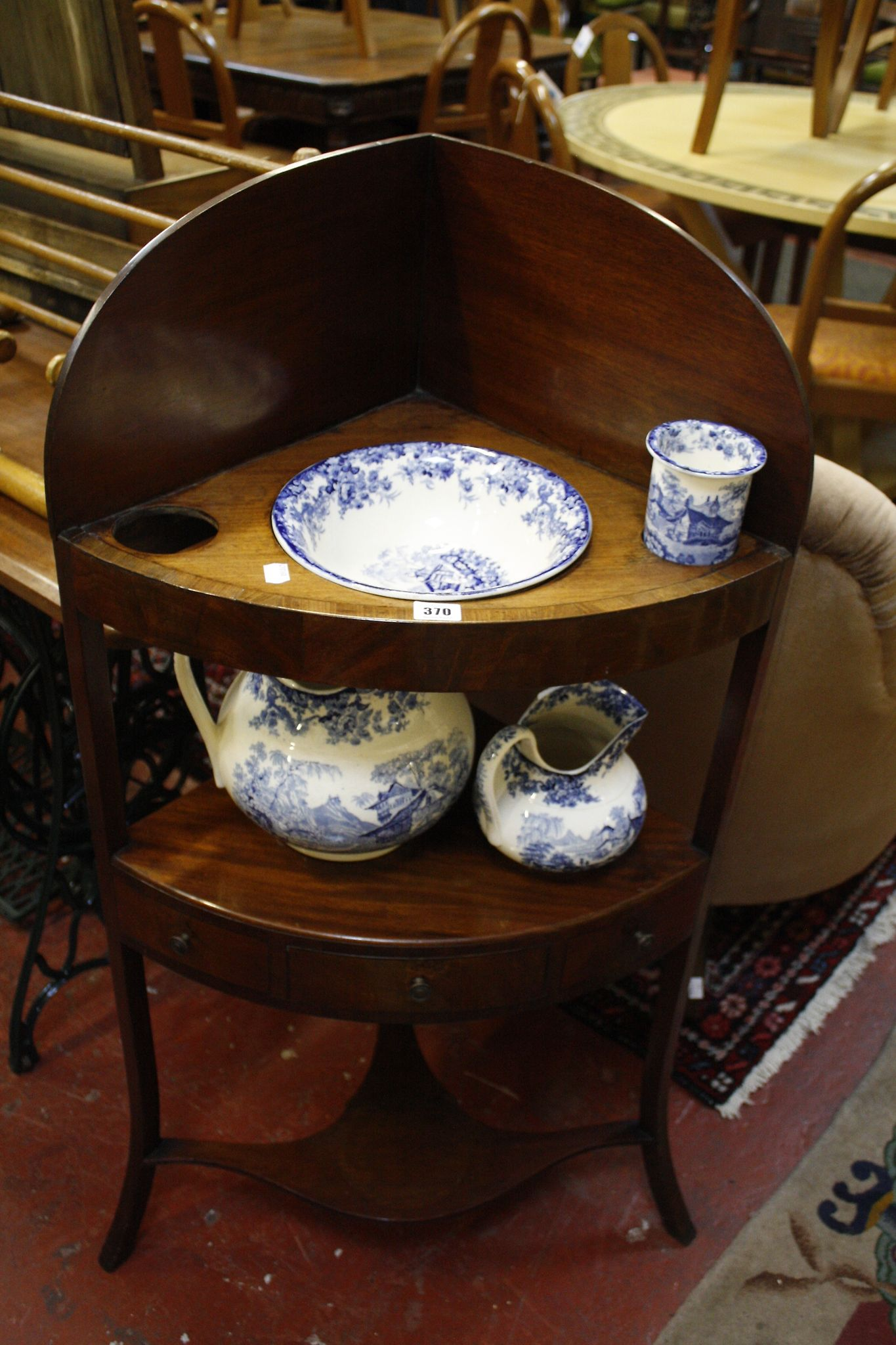A 19th Century mahogany corner washstand
