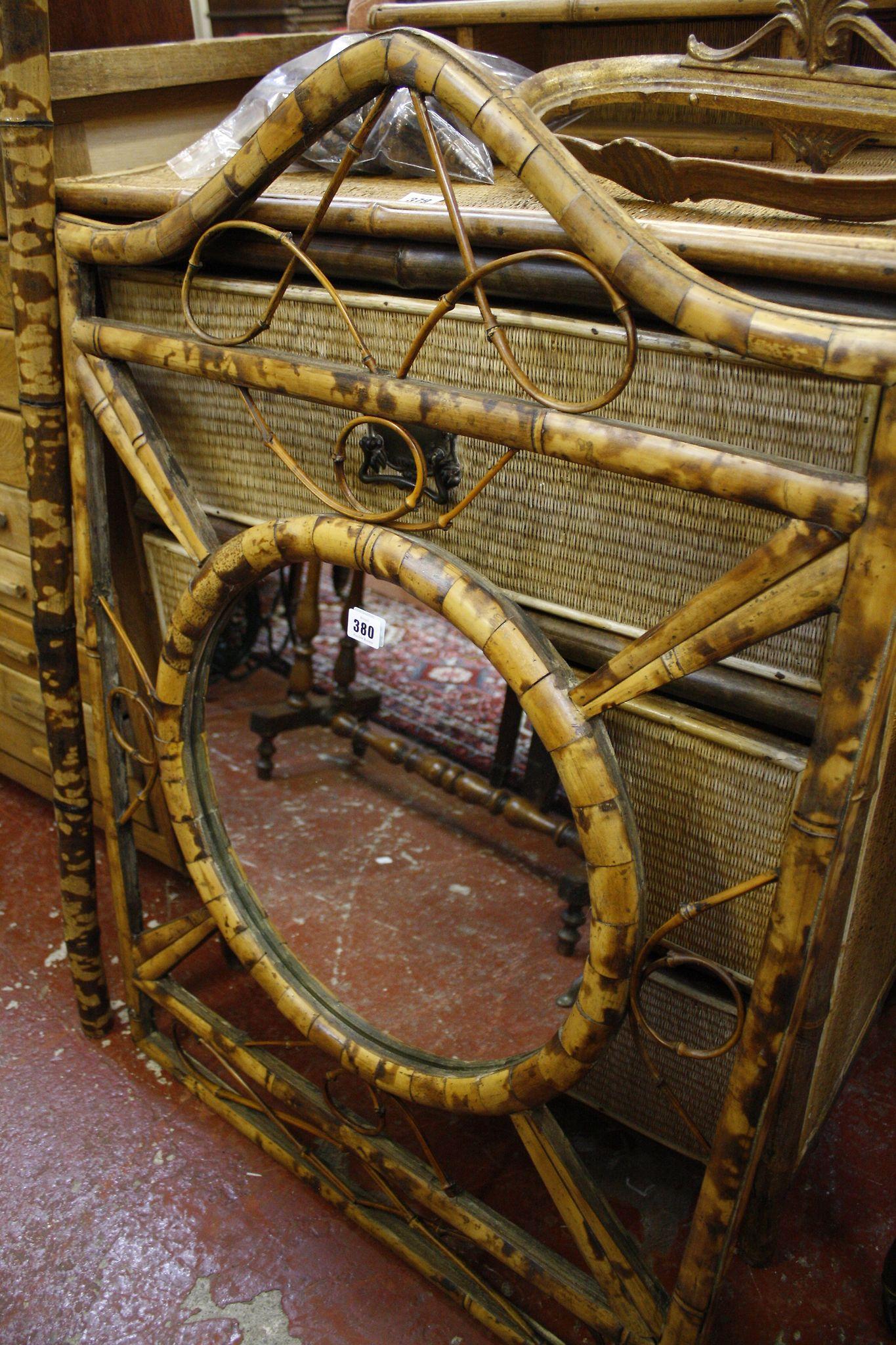 A bamboo mirror