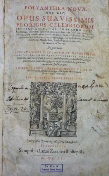 POLYANTHEA NOVA, hoc est, OPUS SUAVISSIMIS FLORIBUS CELEBRIORUM...