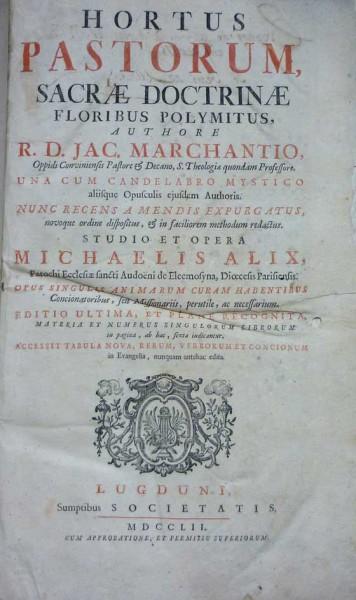 HORTUS PASTROUM, sacrae doctrinae floribus polymitus