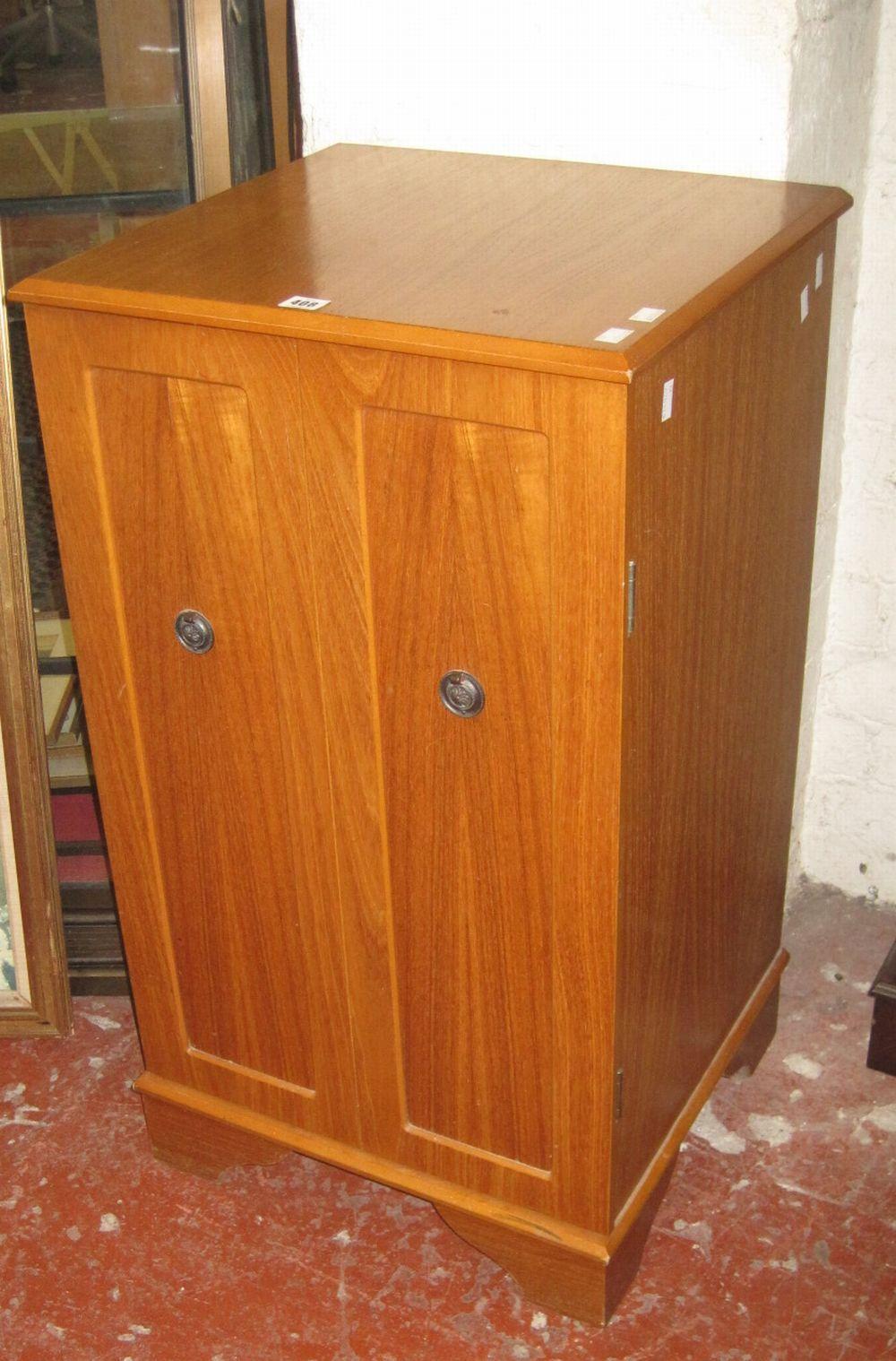 A modern hardwood cabinet