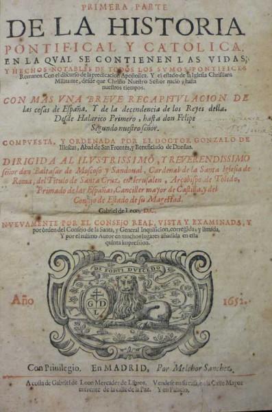 Historia Pontificial y Católica, 6 vols