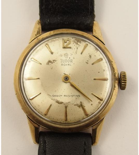 A 9ct gents Tudor Royal watch