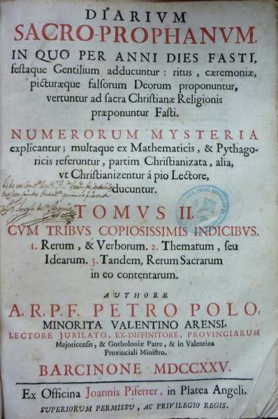 Diarium sacro prophanum