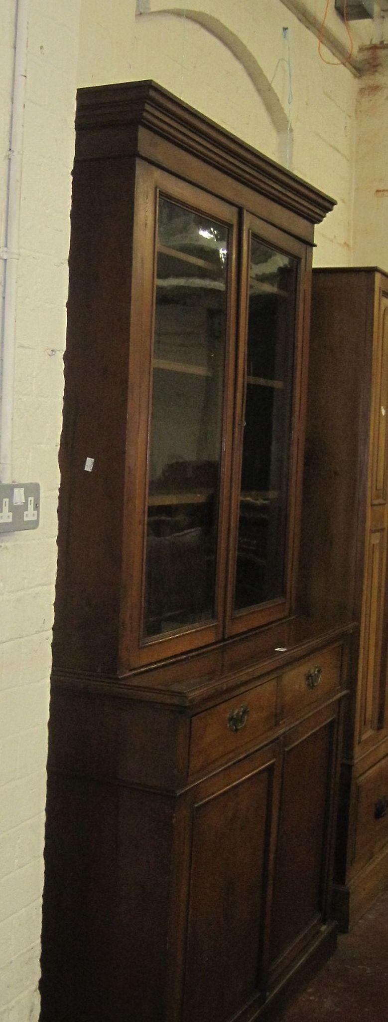 A late 19th Century mahogany bookcase/cabinet