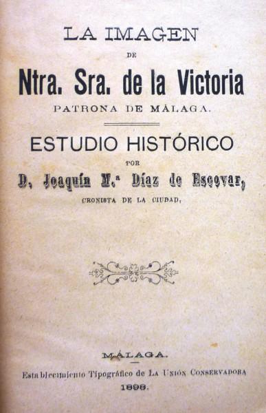 LA IMAGEN DE NTRA. SRA. DE LA VICTORIA patrona de Málaga