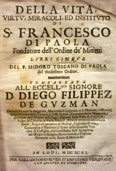 De la vita San Francesco di Paola