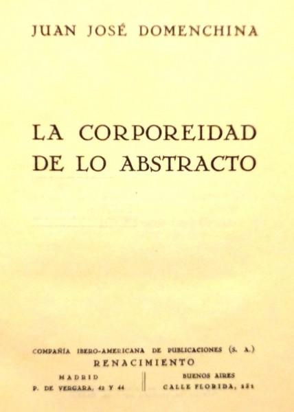 LA CORPOREIDAD DE LO ABSTRACTO
