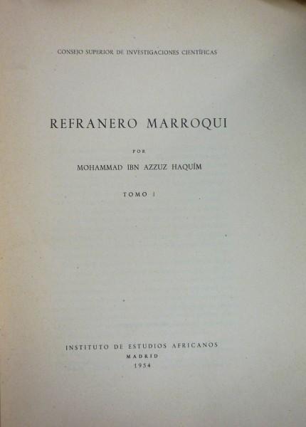 REFRANERO MARROQUÍ