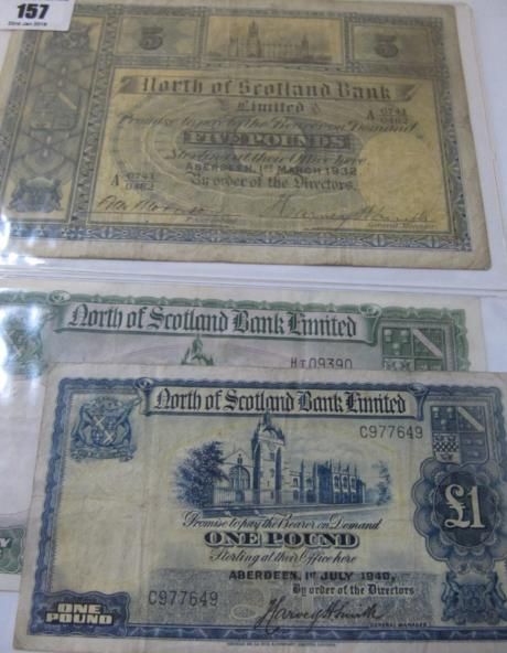 North Bank of Scotland £5 note Aberdeen 1st March 1932