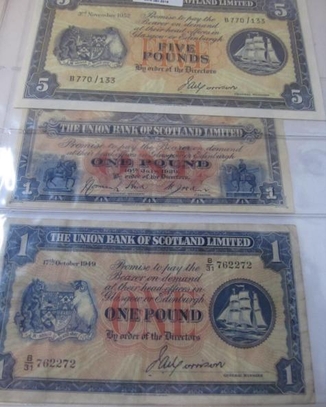 The Union Bank of Scotland Limited £5 note 3rd November 1952