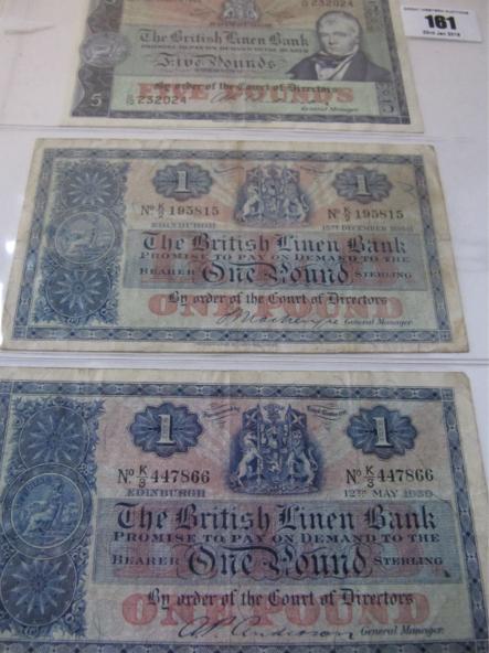 The British Linen Bank £5 note 21st September 1962