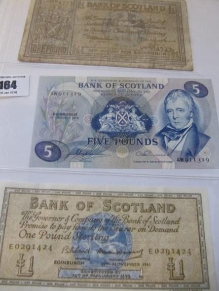 Bank of Scotland £5 note 19th October 1978