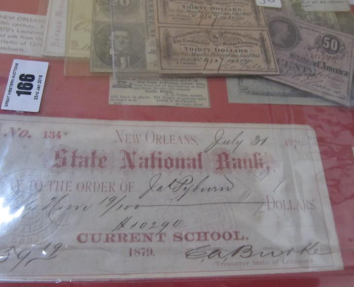 United States of America State of Louisiana 5 Dollar Bond