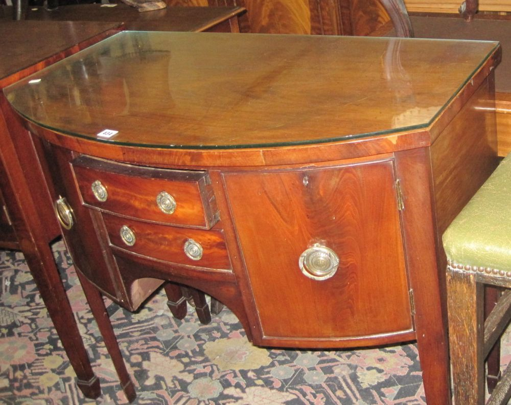 A George III style mahogany bowfront sideboard