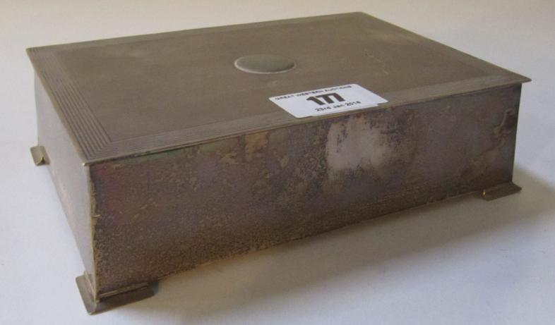 A silver cigarette box, Birmingham 1936