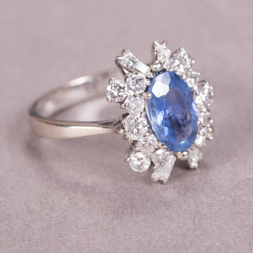 14kt. White Gold and Diamond Ring