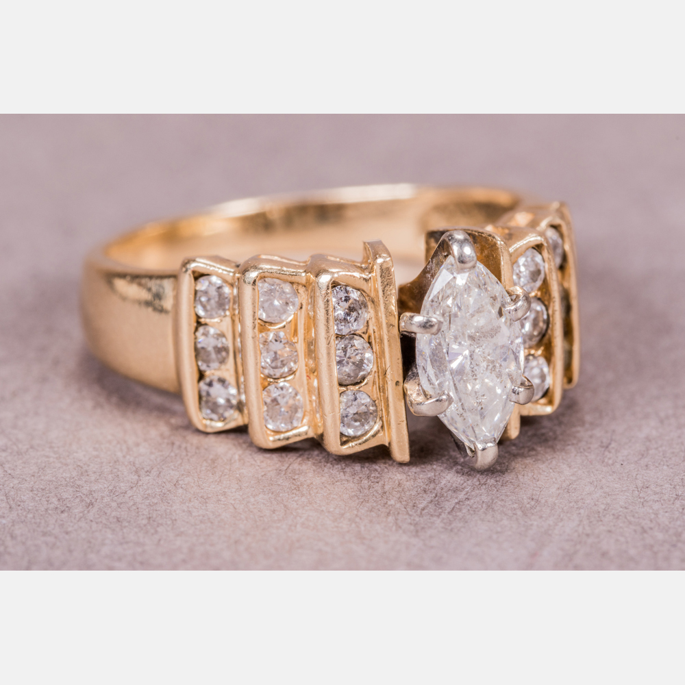14kt. Yellow Gold and Diamond Ring