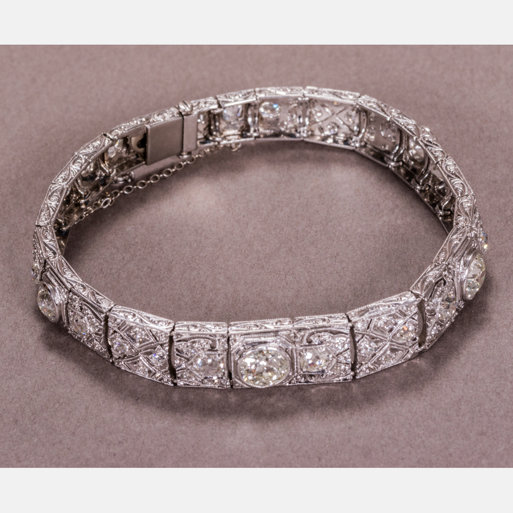 Platinum, White Gold and Diamond Bracelet