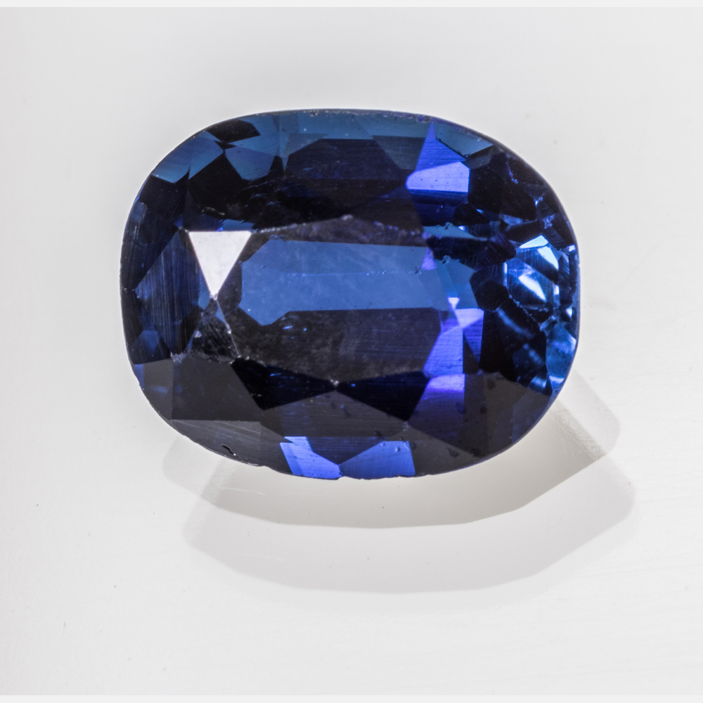 A Synthetic Blue Sapphire