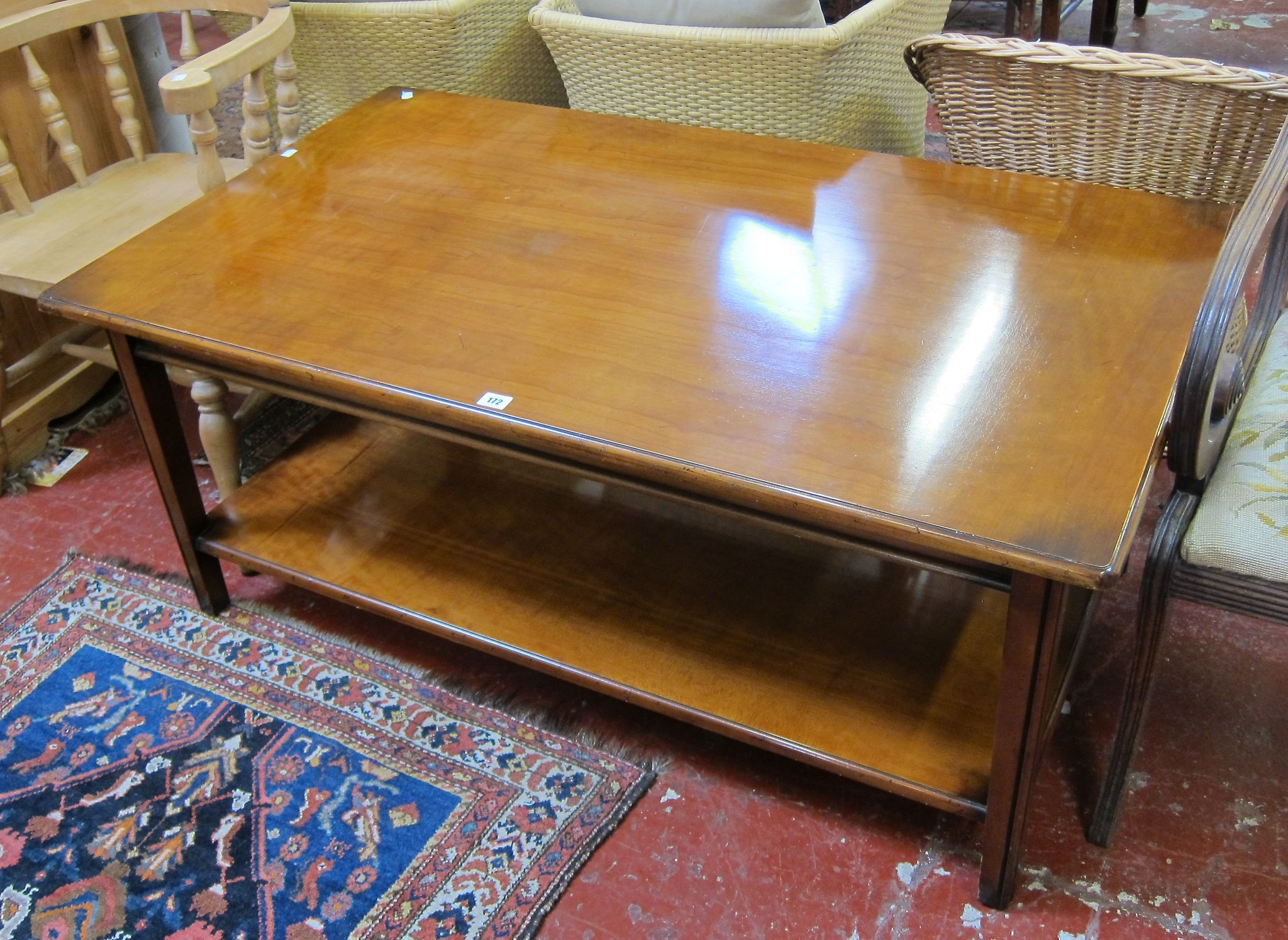 A two tier coffee table