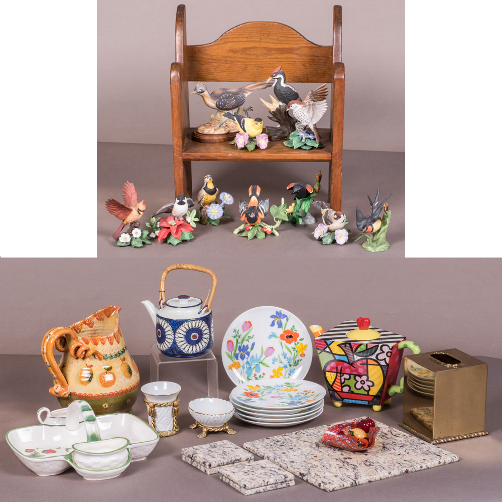 A Collection of Porcelain Decorative Items