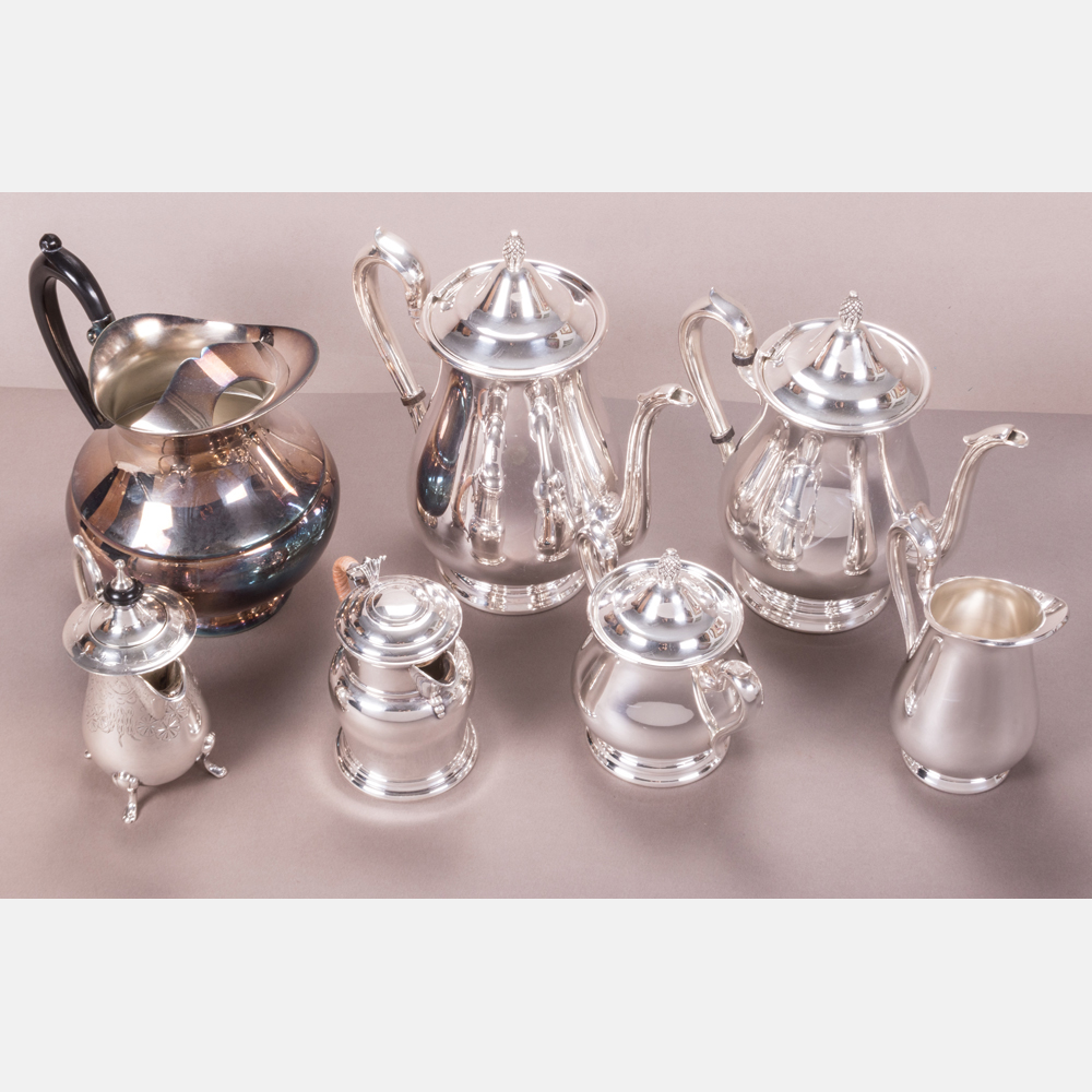 Seven Silver Plated Serving Items