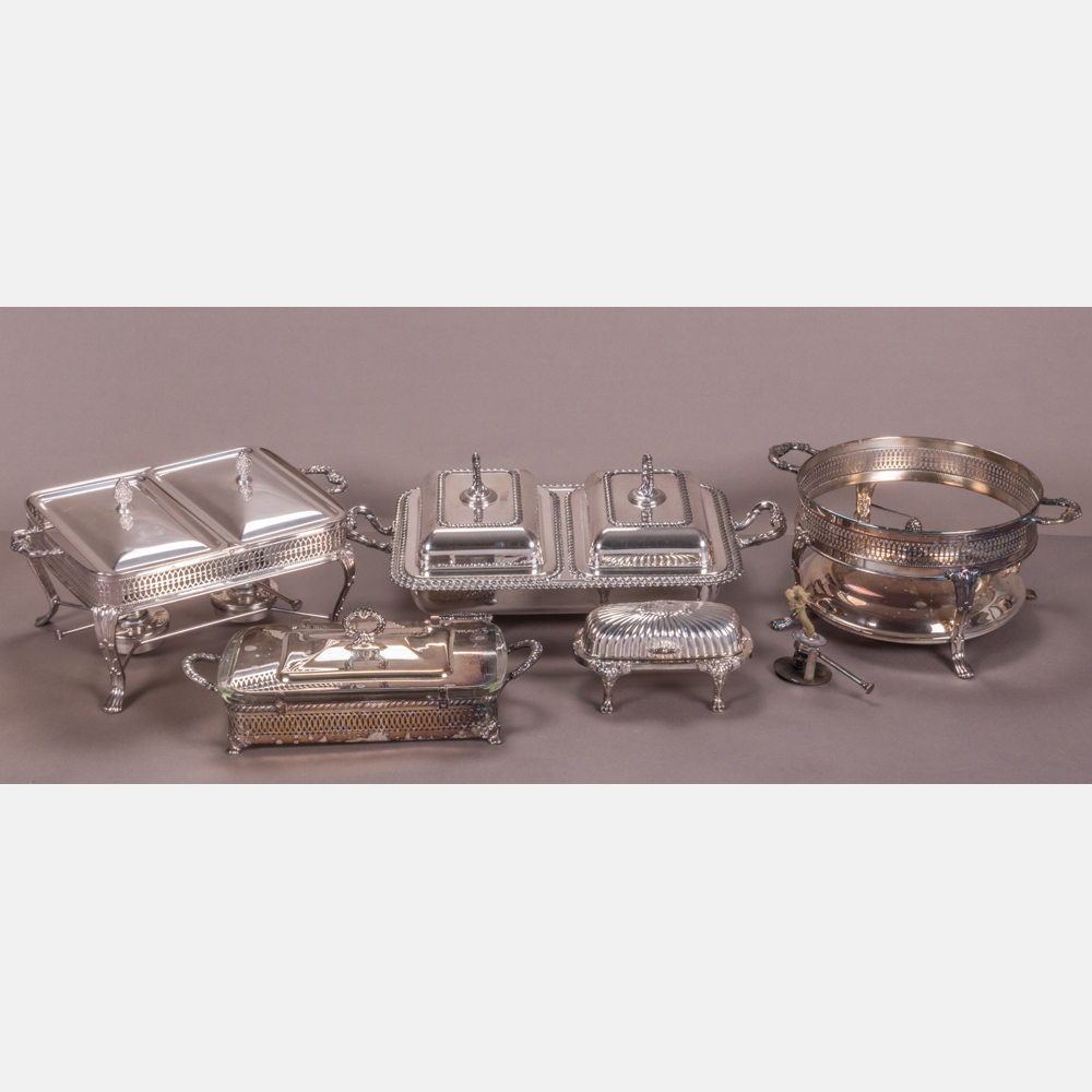 Five Silver Plated Serving Dishes