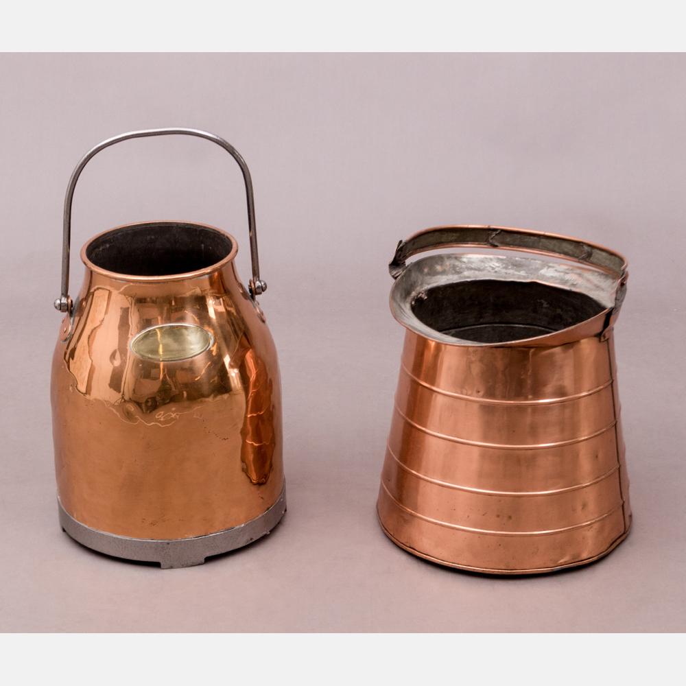Two Copper Milk Pails