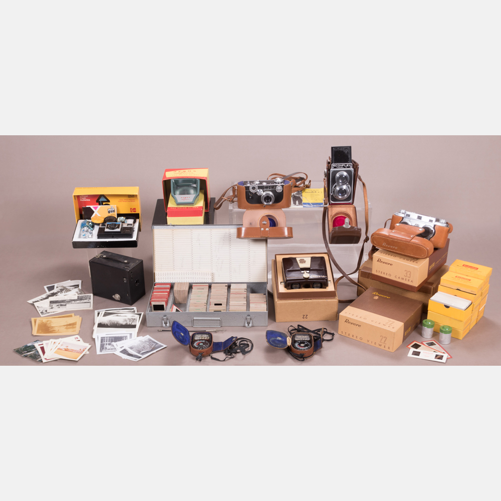 A Collection of Vintage Camera Equipment