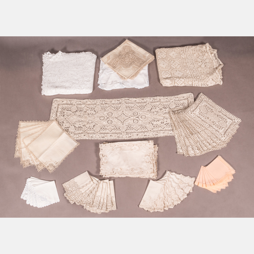A Collection of Vintage Linens and Textiles