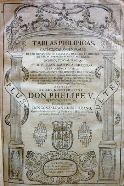 TABLAS PHILIPICAS, CATHOLICAS Ó GENERALES