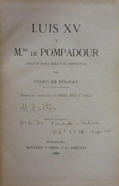 LUIS XV Y Mme. DE POMPADOUR