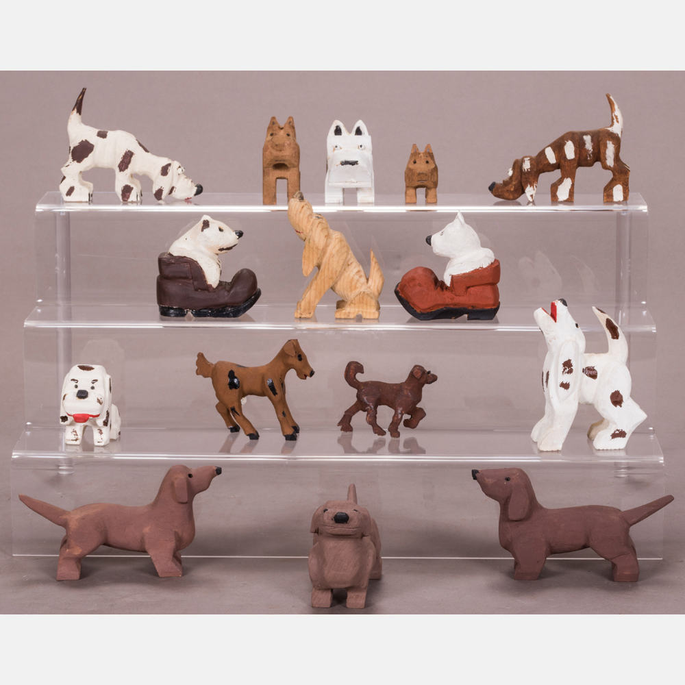 A Collection of Fifteen Dogs