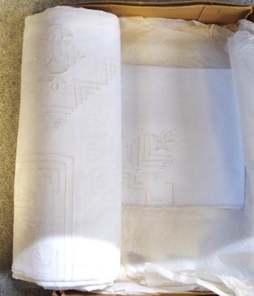A small quantity of Cypriot table linen.