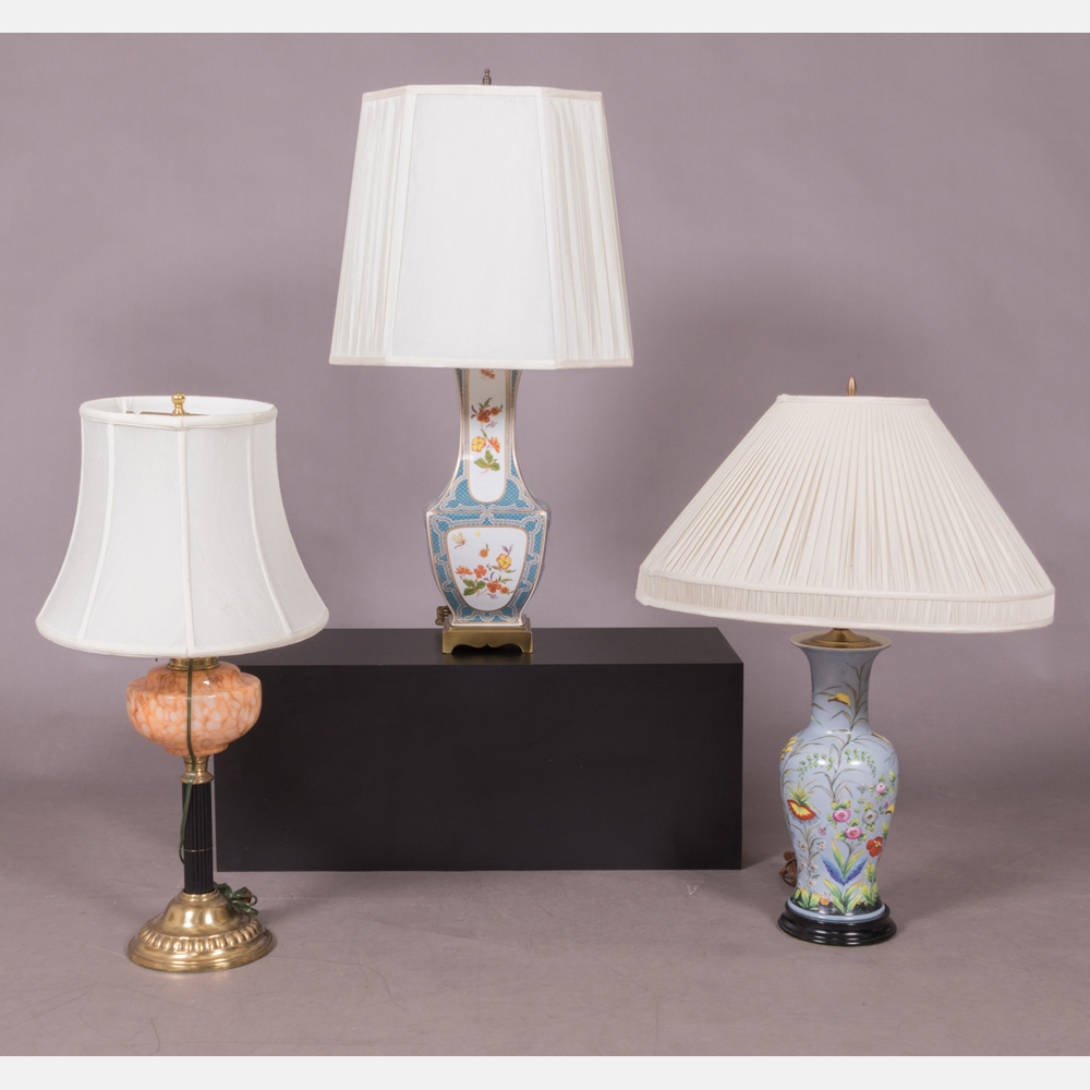 A Group of Three Table Lamps