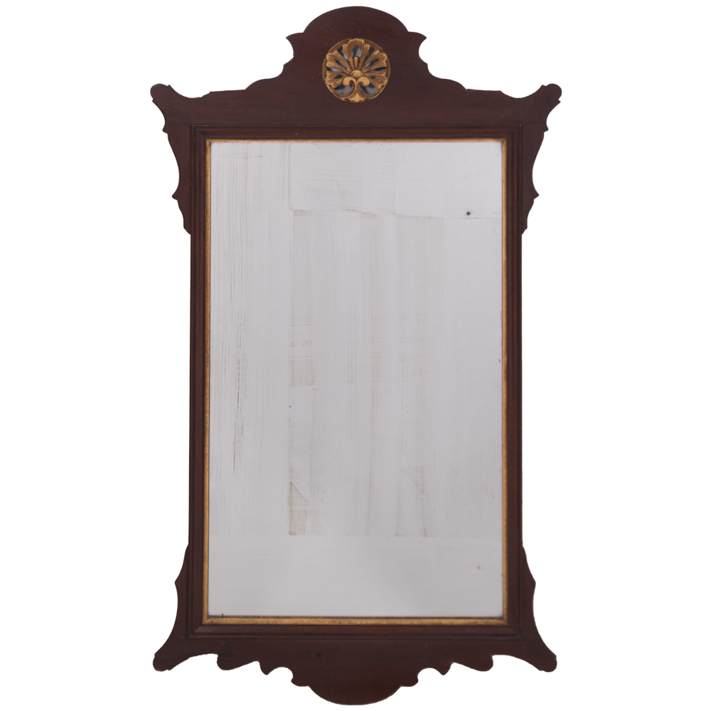 A Chippendale Mahogany Mirror