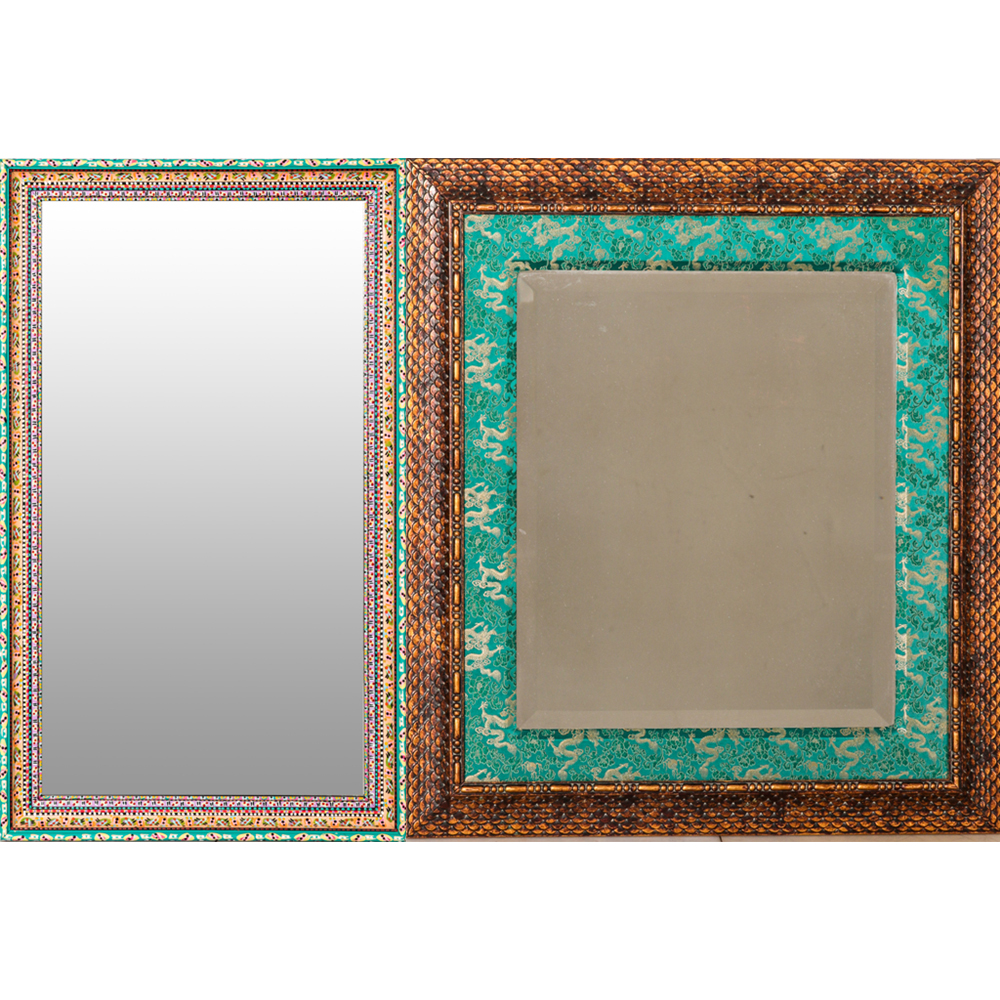 Two Decorative Framed Mirrors