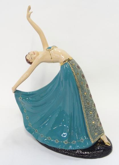 Limited Edition Kathleen Parsons figure 'The Dancer' made for Fielding's Crown Devon Collectors Club
