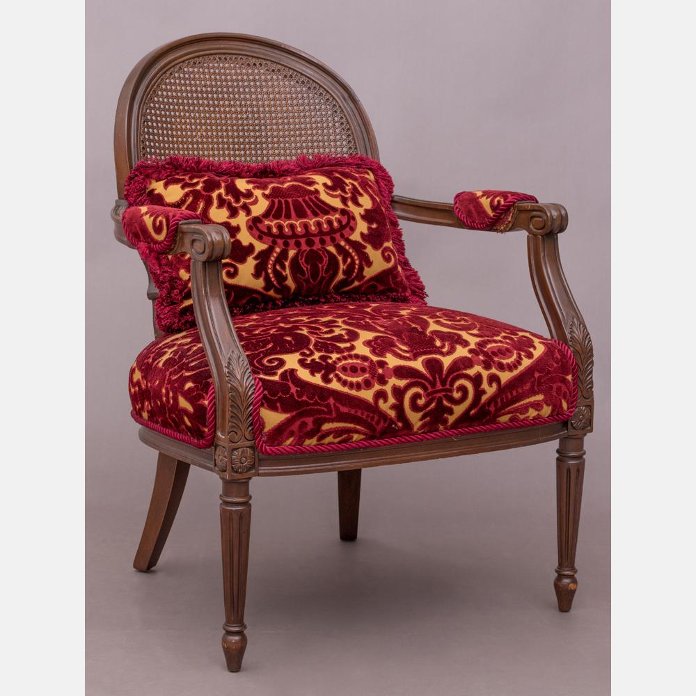 A Louis XVI Style Mahogany Fauteuil
