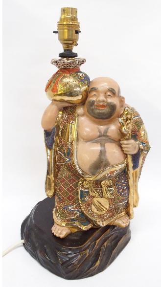 Satsuma Buddha table lamp.