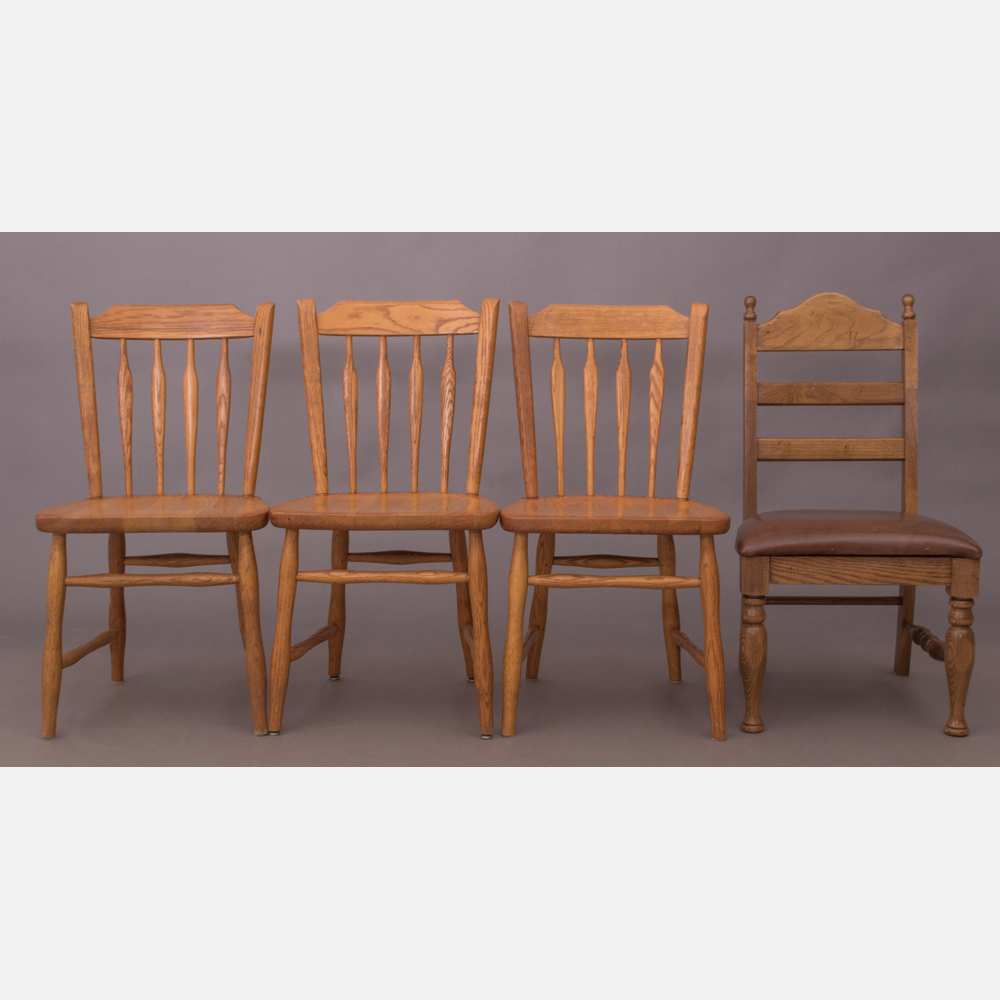 A Group of American Pine Side Chairs