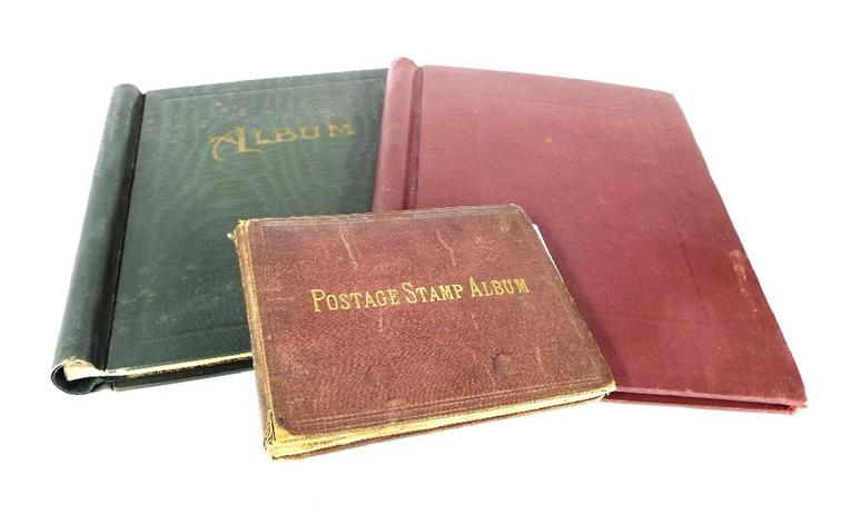 Three albums containing an interesting collection of stamps