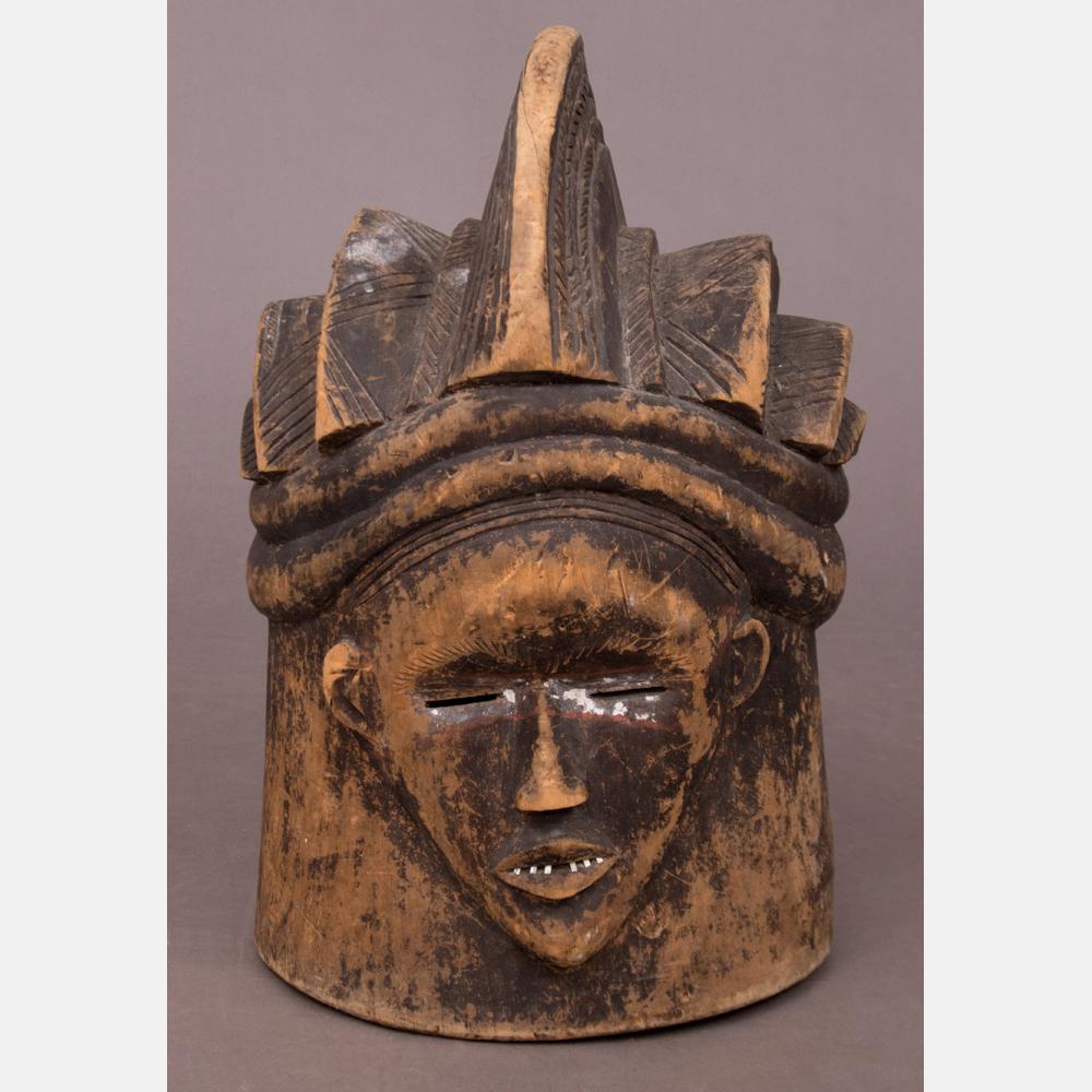 A Punu Tribe Carved Wood Mask