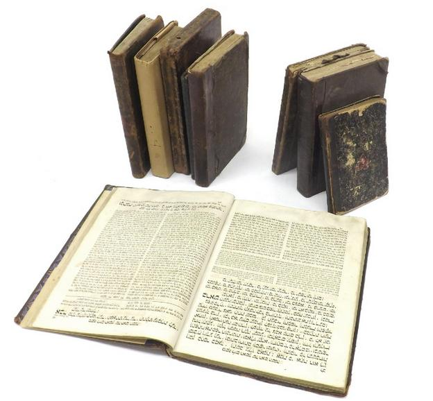 Collection of nine old books of Jewish/Hebrew interest