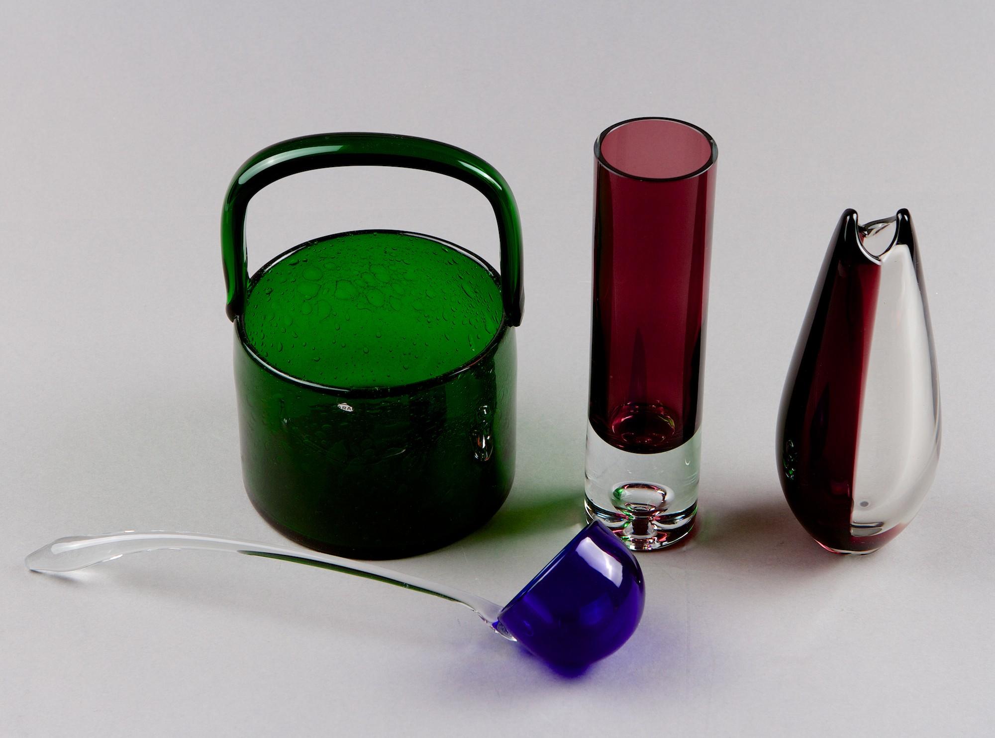 Art glas, 4 pcs